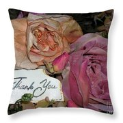 Thank You  Throw Pillow