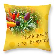 Thank You For Your Hospitality Greeting Card - Decorative Pepper Plant Throw Pillow