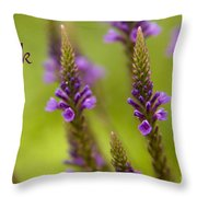 Thank You Wildflowers Throw Pillow