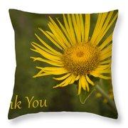 Thank You Yellow Aster Throw Pillow