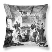 Thanksgiving, 1855 Throw Pillow