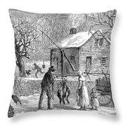 Thanksgiving, 1882 Throw Pillow