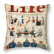 Thanksgiving, 1924 Throw Pillow