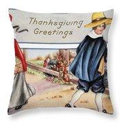 Thanksgiving, C1900 Throw Pillow