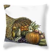 Thanksgiving: Cornucopia Throw Pillow