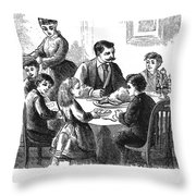 Thanksgiving Dinner, 1873 Throw Pillow