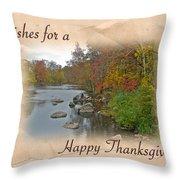 Thanksgiving Greeting Card - Autumn Creek Throw Pillow