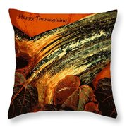 Thanksgiving Greeting Card Throw Pillow