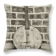 That Old Banjo Mandolin Throw Pillow