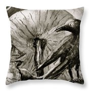 That Which Lies Behind In Black And White Throw Pillow