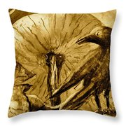 That Which Lies Behind In Sepia Throw Pillow