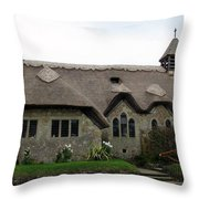 Thatched Church Throw Pillow