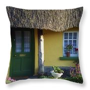 Thatched Cottage, Adare, Co Limerick Throw Pillow