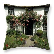 Thatched Cottage, Carlingford, Co Throw Pillow