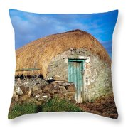 Thatched Shed, St Johns Point, Co Throw Pillow