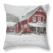 The 1856 Country Store On Main Street In Centerville On Cape Cod Throw Pillow
