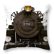 The 482 Durango To Silverton Throw Pillow