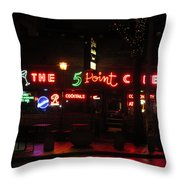 The 5 Point Cafe Throw Pillow