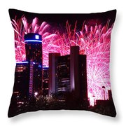 The 54th Annual Target Fireworks In Detroit Michigan Throw Pillow