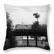 The 7 Line In Black And White Throw Pillow