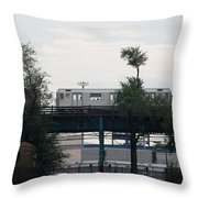 The 7 Line Throw Pillow