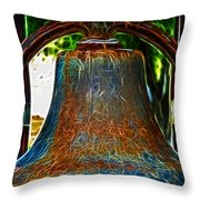 The Academy Bell Fractal Throw Pillow