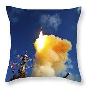 The Aegis-class Destroyer Uss Hopper Throw Pillow