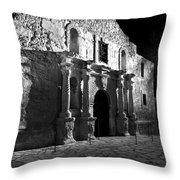 The Alamo At Night Throw Pillow