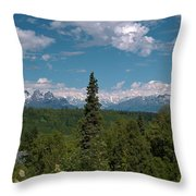 The Alaska Range Throw Pillow