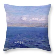 The Albanian Sea Throw Pillow
