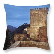 The Alcazaba The Alhambra Throw Pillow