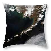 The Aleutian Islands And The Alaskan Throw Pillow