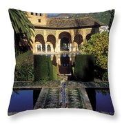 The Alhambra Palace Of The Partal Throw Pillow