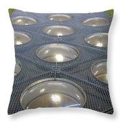 The Alien Space Base Throw Pillow