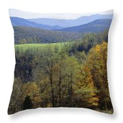 The Allegheny Front, North Fork Throw Pillow