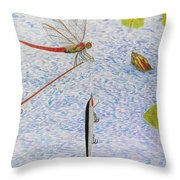 The Allure Of The Rod Throw Pillow