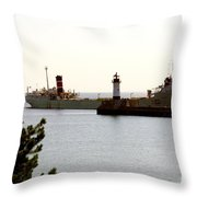 The Alpena Ship Throw Pillow