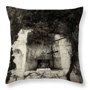 The Altar 2 Bw Throw Pillow