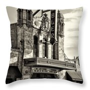 The Ambler Theater In Sepia Throw Pillow