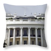 The American Flag Flies At Half-staff Throw Pillow