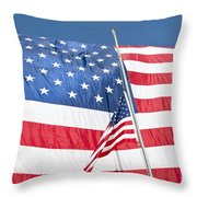 The American Flag Hangs Throw Pillow