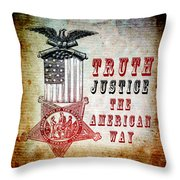 The American Way Throw Pillow