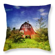 The Amish House Throw Pillow
