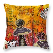 The Angel Brigade - Cropped Version Throw Pillow