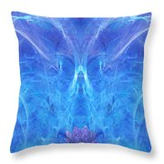 The Angel Of Grace Throw Pillow