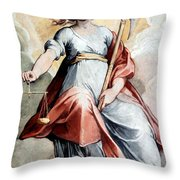 The Angel Of Justice Throw Pillow