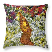 The Angel Tree Throw Pillow