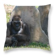 The Angry Ape Throw Pillow