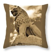The Angry Lion Throw Pillow