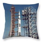 The Apollo 8 Space Vehicle Throw Pillow